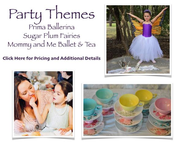 Children's birthday dance tea party