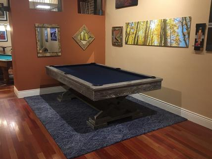 free standing pool table