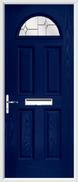 4 Panel 1 Arch Composite Door regal opal glass