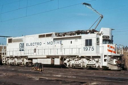 EMD GM6C Electric Locomotive No. 1975.