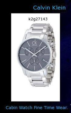 Watch Information Brand, Seller, or Collection Name Calvin Klein Model number K2G27143 Part Number K2G27143 Model Year 2013 Item Shape Round Dial window material type Mineral Display Type Analog Clasp Buckle Case material Stainless Steel Case diameter 43 millimeters Case Thickness 11 millimeters Band Material Stainless Steel Band width 22 millimeters Band Color Silver Dial color Grey Bezel material Stainless Steel Item weight 5.28 Ounces Movement Quartz Water resistant depth 50 Meters