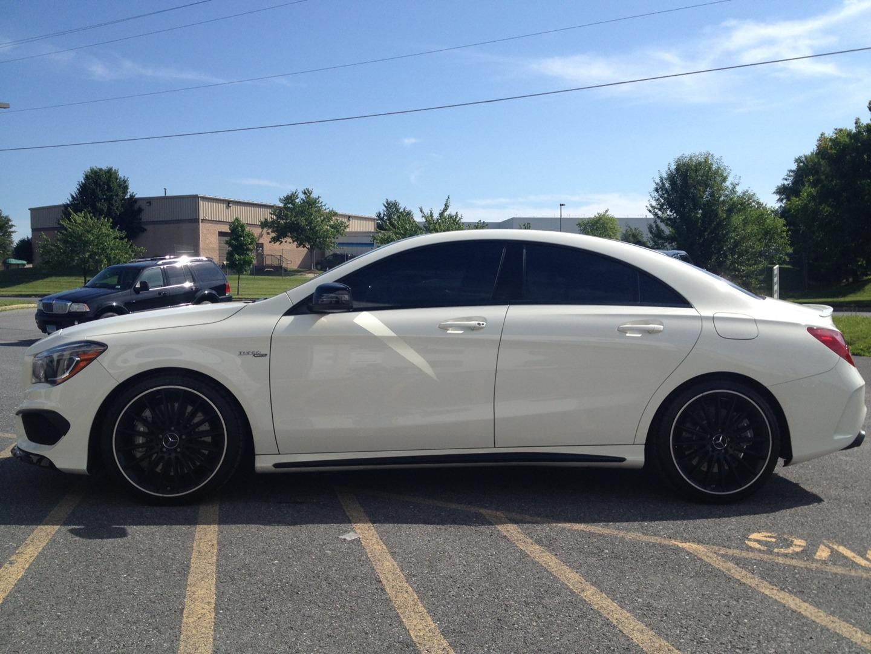 20 3M Tint On A Mercedes Benz CLA45 AMG