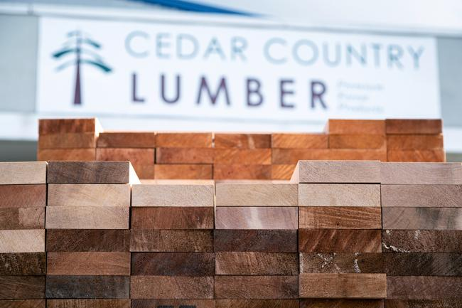 clear western red cedar lumber at Cedar Country Lumber