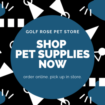 Shop pet supplies now | Golf Rose Animal Services