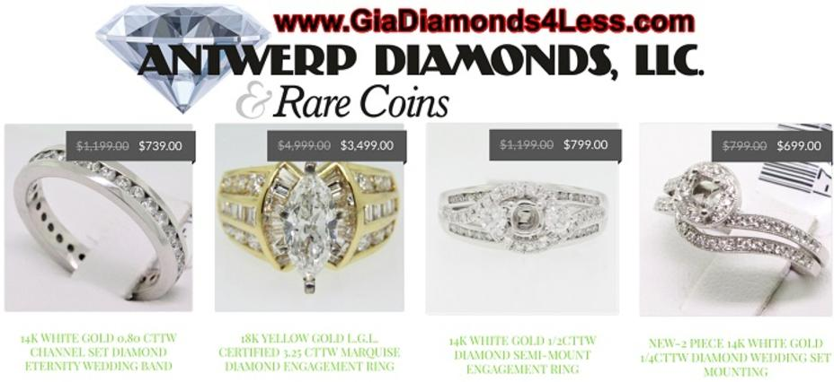 Engagement Rings in Roswell GA - Antwerp Diamonds and Rare Coins - Engagement Rings