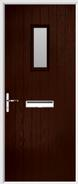 Cottage Rectangle Composite Door obscure glass
