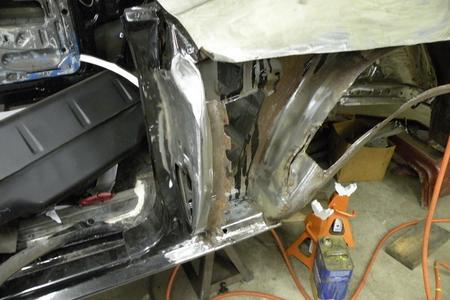 72 Mustang Quarter Panel Repair