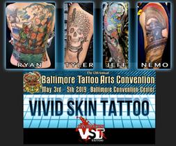York Pa Vivid Skin Tattoo Studio BTAC Tattoo Convention