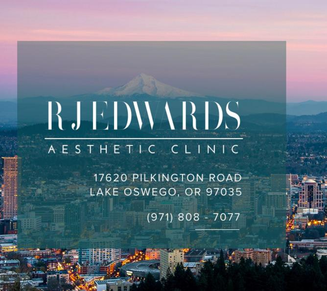 Portland background with clinic address overtop.