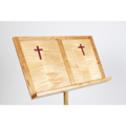 Cherry and tiger maple wood music stand