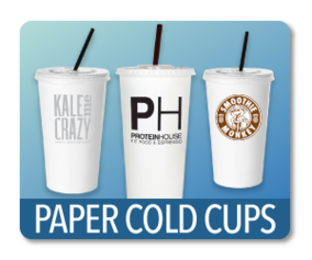 Paper Drining Cups Custom Printed
