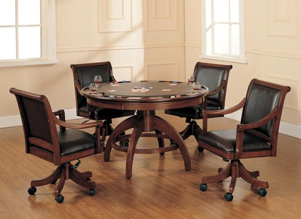 5 piece game set table and chairs