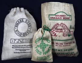 Burlap and Cotton Bags
