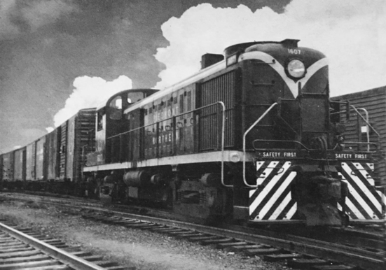 Piedmont and Northern ALCO RS-3 No. 1607, ca. 1962.