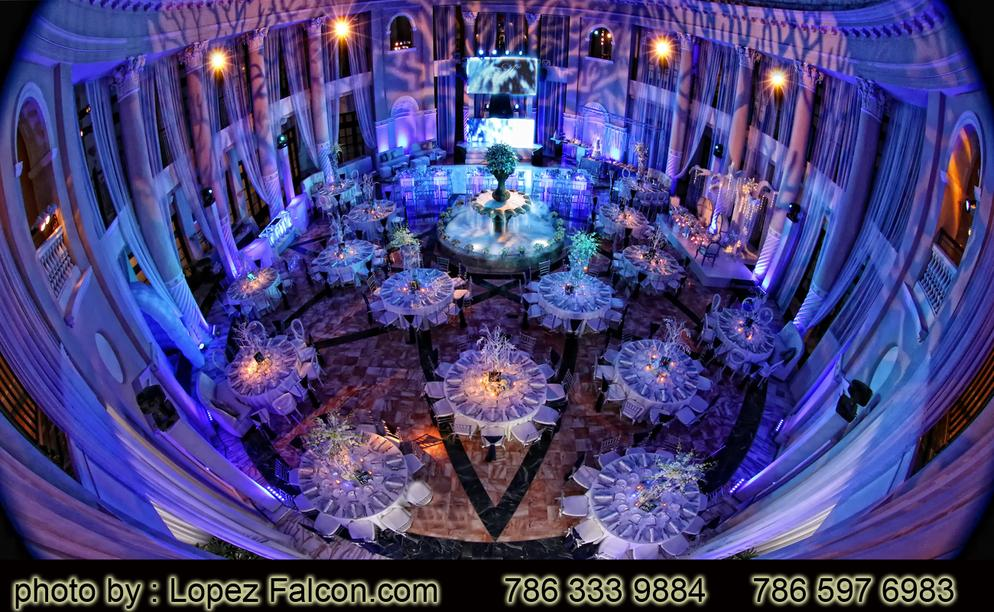 Hotel Colonnade Coral Gables Winter wonderland quinces quinceanera quince stage decoration