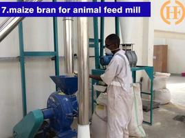 Get sifted maize flour for ugali & maize bran for animal feeding