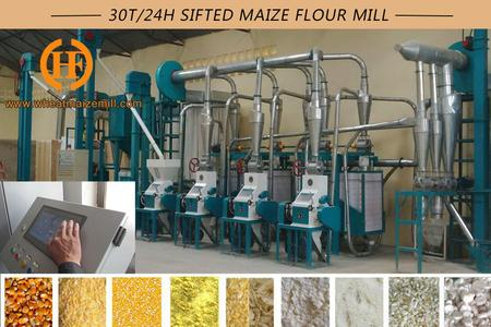 30 ton per 24hr sifted maize milling machines
