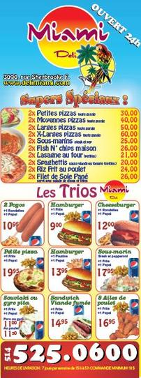 Delivery Menu Miami Deli