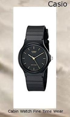 Product Specifications Watch Information Brand, Seller, or Collection Name Casio Model number MQ24-1E Part Number MQ24-1E Model Year 2014 Item Shape Round Dial window material type Resin Glass Display Type Analog Clasp Buckle Case material Stainless steel Case diameter 35 millimeters Case Thickness 8 millimeters Band Material Silicone Band length mens Band width 18 millimeters Band Color Black Dial color Black Bezel material Resin Bezel function Stationary Special features measures-seconds Item weight 4.54 Grams Movement Quartz