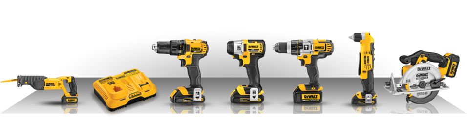 Set of dewalt tools