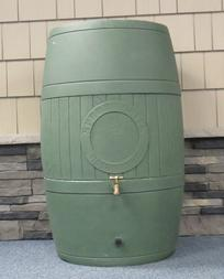 rain barrel in Wilton, Maine