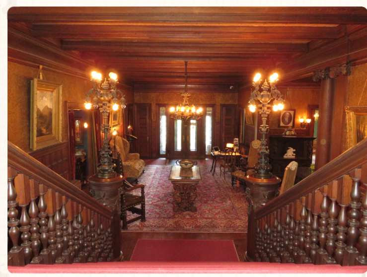 Photo of the Main Hall, Rockcliffe Mansion, Hannibal Missouri