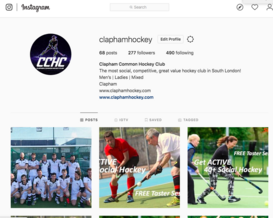 Clapham Common Hockey Club Instagram Page