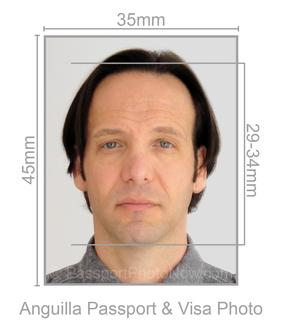 Anguilla Passport and Visa Photo