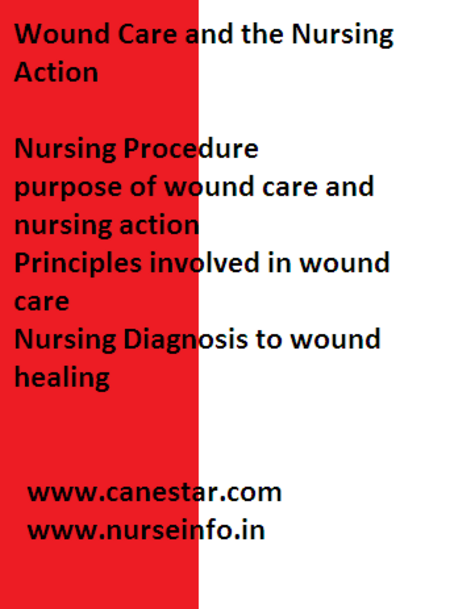 wound care and nursing action