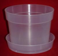 clear plastic orchid saucers medium 6 inch heavy duty plant sturdy nursery pots