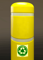 Recycled Post Guard bollard cover