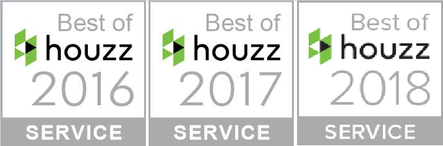 Best of houzz awards for client satisfaction 2016, 2017, and 2018