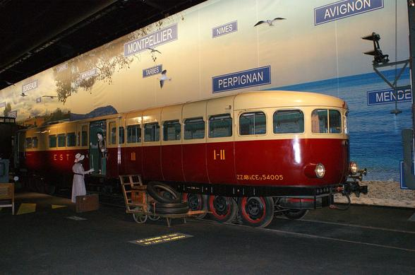 A Micheline Type 22 built in 1936 at the SNCF Museum, in Mulhouse, France.