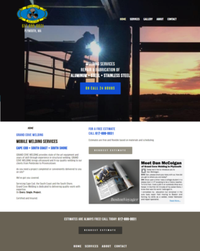 Website Design - Grand Cove Welding