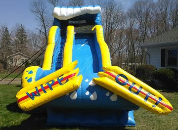wipe out water slide for rent