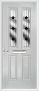 2 Panel 2 Arch Composite Door resin lead glass