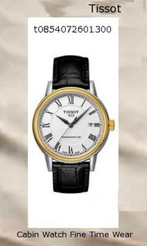 Watch Information Brand, Seller, or Collection Name Tissot Model number T0854072601300 Part Number T0854072601300 Model Year 2011 Item Shape Round Dial window material type Anti reflective sapphire Display Type Analog Clasp Buckle Case material Stainless steel Case diameter 40 millimeters Case Thickness 10 millimeters Band Material leather calfskin Band length Men's Standard Band width 19 millimeters Band Color Black Dial color White Bezel material Stainless steel Bezel function Stationary Calendar Date Special features Second hand Item weight 1.1 Pounds Movement Swiss automatic Water resistant depth 99 Feet