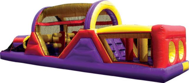 This inflatable obstacle course can be an amazing centerpiece for an Indoor FEC or any backyard party. The inflatable play structure begins with a front-loading obstacle entrance, taking participants through tunnels and pop-ups to facilitate maneuvering skills and build confidence. The challenge obstacle then leads to an exciting front-exiting climb and slide, all to guarantee hours of enjoyable physical activity. Each inflatable play structure has mesh windows for easy viewing, and is constructed of the fire-resistant, lite n' strong™ vinyl for easy portability, durability and safety.