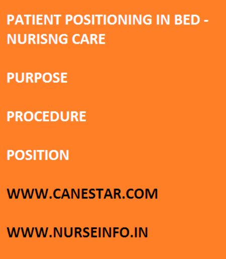 patient positioning in bed, nursing care
