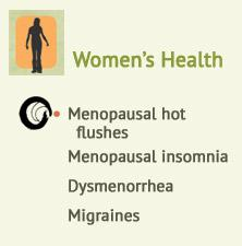 Menopausal hot flushes, Peri & post-menopausal insomnia , Dysmenorrhea, Migraines at Ondol Clinic, Toowong