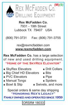 Drilling Supplies, Rex McFadden