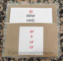 learn how to store Montessori language cards - montessori print shop