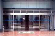 automatic pocket glass door
