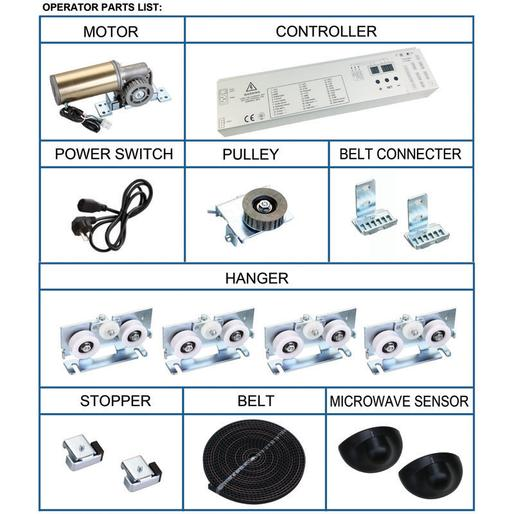 Spare parts for sliding door automatic