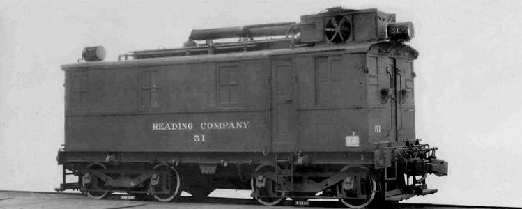 Spec card photo of GE-IR-Alco Boxcab locomotive built for the Reading in 1928.