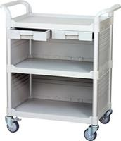 3 shelf medical cart hospital furniture, hospital trolley manufacturer