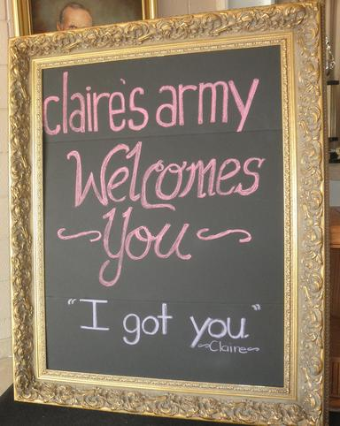 "Giant 59"" tall gold framed chalkboard for rent at Rent Your Event."