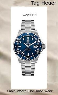 Watch Information Brand, Seller, or Collection Name TAG Heuer Model number WAN2111.BA0822 Part Number WAN2111.BA0822 Model Year 2011 Item Shape Round Dial window material type Scratch resistant sapphire Display Type Analog Clasp Fold-Over Clasp with Safety Case material Stainless steel Case diameter 41 millimeters Case Thickness 12.2 millimeters Band Material Stainless steel Band length Men's Standard Band width 20 millimeters Band Color Silver Dial color Blue Bezel material Stainless steel Bezel function Unidirectional Calendar Date Special features Screw down crown, Shock resistant Item weight 15.84 Ounces Movement Swiss automatic Water resistant depth 990 Feet