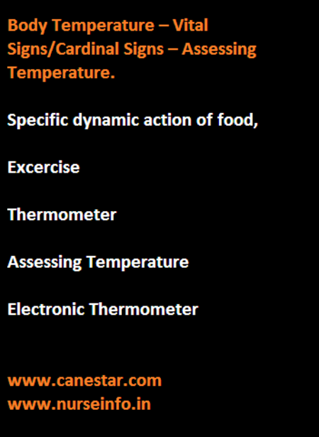 Body temperature, vital sign, thermometer, assessing