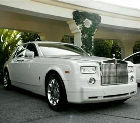 Phantom Rolls Royce Wedding Limo Service